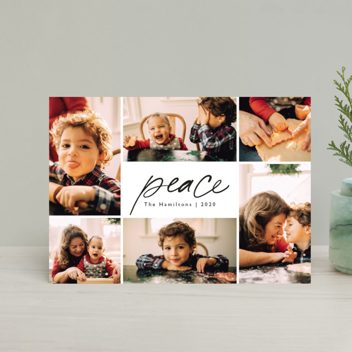 """""""Peace."""" - Holiday Petite Cards in Ink by Caitlin Considine."""