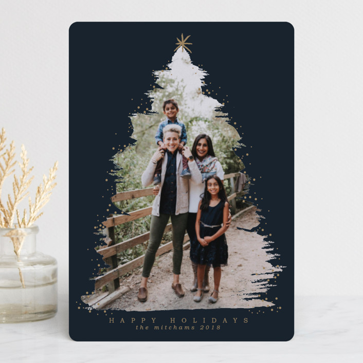 """""""Under the Tree"""" - Holiday Petite Cards in Navy by Grae Sales."""