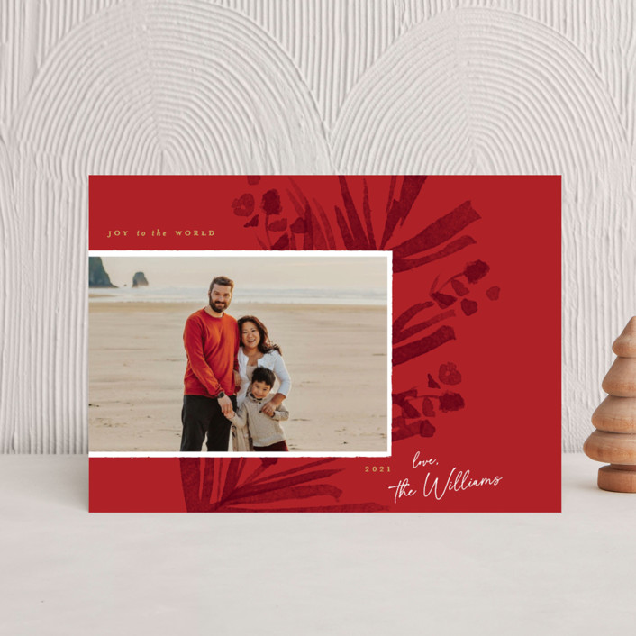 """""""Pinecrest"""" - Holiday Petite Cards in Poinsettia by Robert and Stella."""