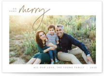 This is a brown petite holiday card by JoAnn Jinks called Simplicity with standard printing on smooth signature in petite.