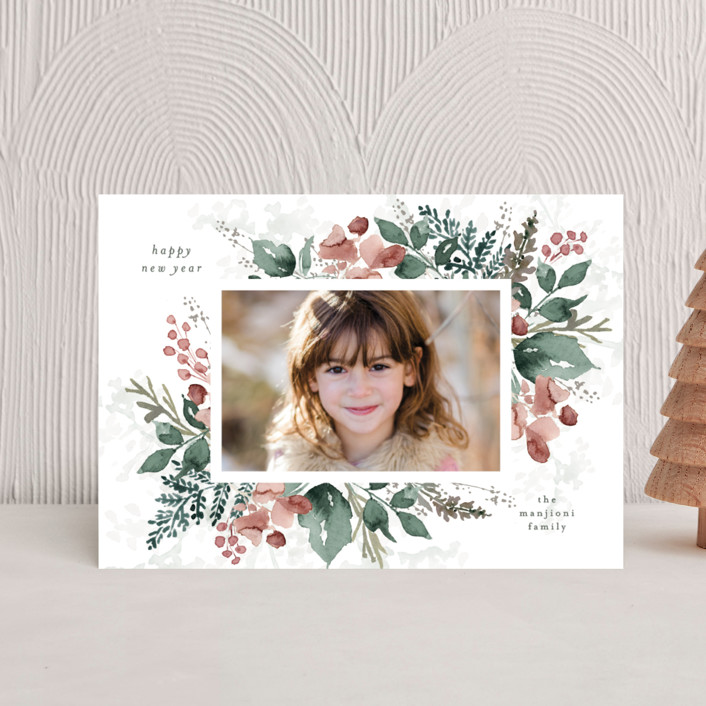 """""""Rejoice in Blessings"""" - Holiday Petite Cards in Rose by Chris Griffith."""