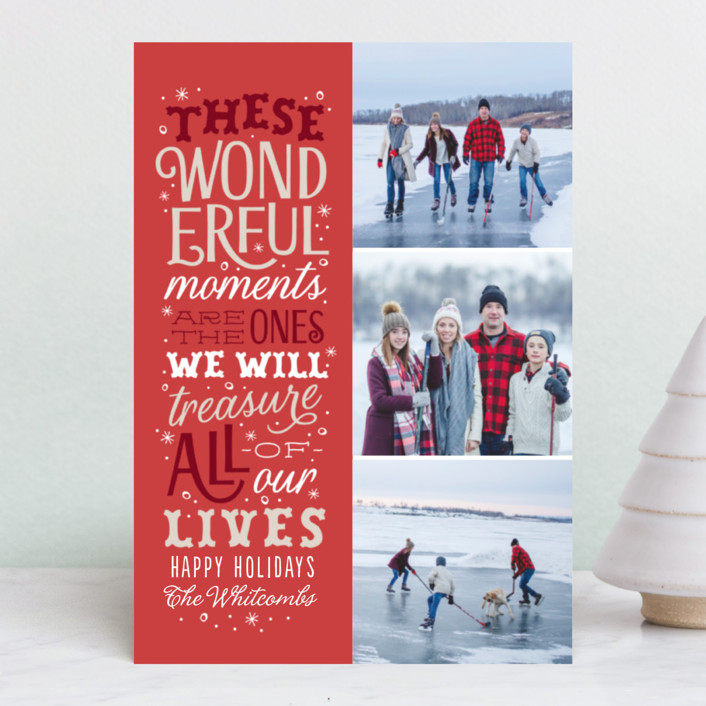 """""""Wonderful Moments"""" - Holiday Petite Cards in Cranberry by Sarah Brown."""