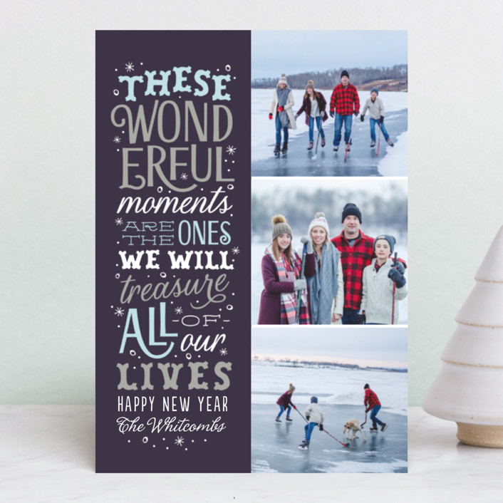 """Wonderful Moments"" - Holiday Petite Cards in Midnight by Sarah Guse Brown."
