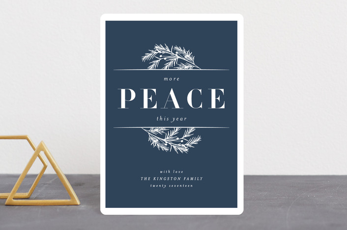 """More Peace"" - Holiday Petite Cards in Celestial by Kate Ross."