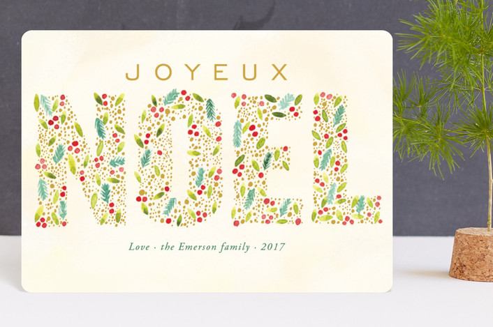 """Joyeux Noel"" - Holiday Petite Cards in Citron by Alexandra Dzh."