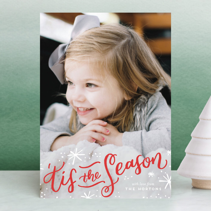 """'Tis the Holiday Season"" - Holiday Petite Cards in Snow by Frooted Design."
