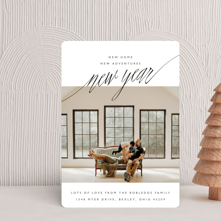 """""""New Adventures"""" - Holiday Petite Cards in Onyx by Oscar & Emma."""
