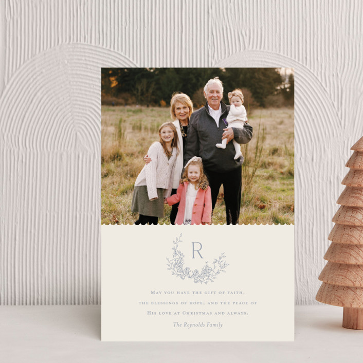 """""""Laurel"""" - Holiday Petite Cards in Bluebell by Vanessa Doyle."""