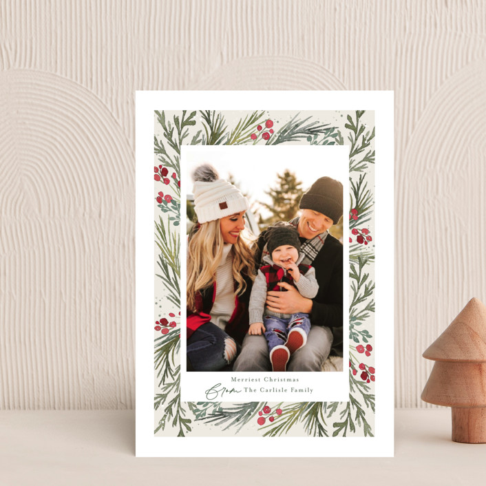 """""""Wintry Frame"""" - Holiday Petite Cards in Marshmallow by Jessica Williams."""