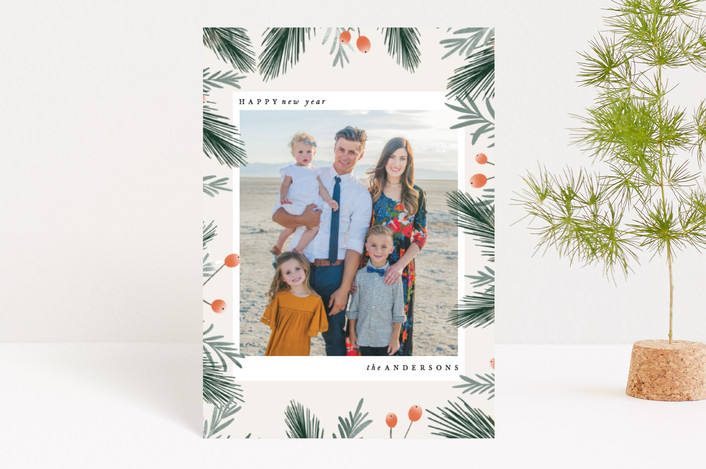 """""""Holiday Blooms"""" - Holiday Petite Cards in Fern by Leah Bisch."""