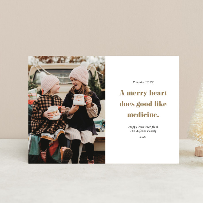 """Proverbs"" - Holiday Petite Cards in Brass by Up Up Creative."