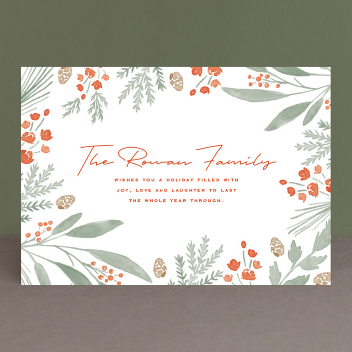 """""""surround"""" - Holiday Petite Cards in Berry Red by Oscar & Emma."""