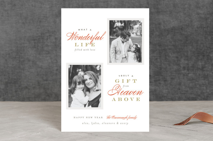 """Heaven Above"" - Holiday Petite Cards in Coral by Pistols."