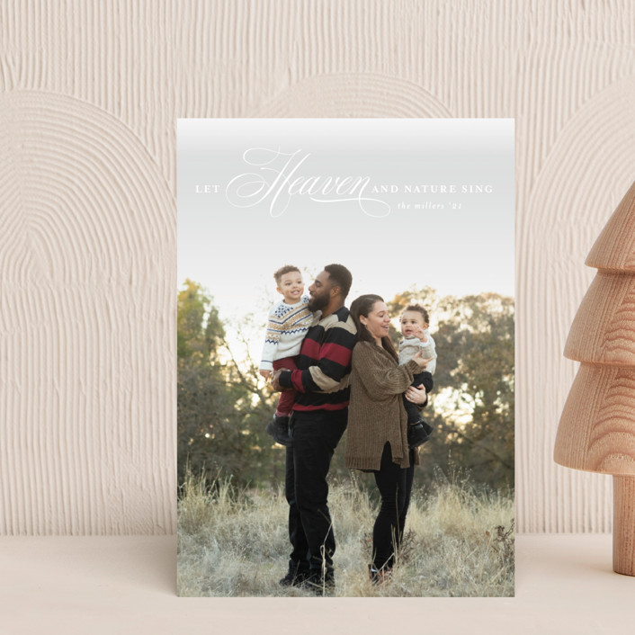"""""""Let Heaven Sing"""" - Holiday Petite Cards in Cloud by Ashlee Townsend."""