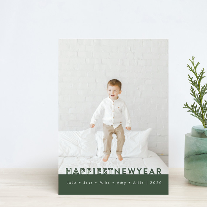 """The Happiest"" - Holiday Petite Cards in Pine by Kasia Labocki."