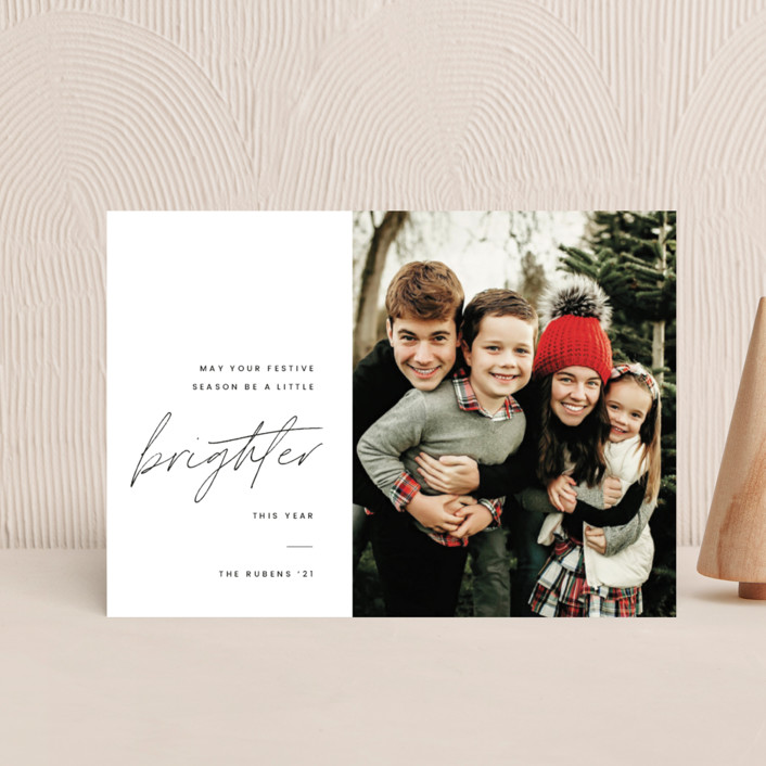 """""""Brighter"""" - Holiday Petite Cards in Coal by Blustery August."""