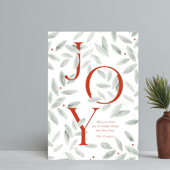 """finding joy"" - Holiday Petite Cards in Santa Suit by Oscar and Emma - Karly Depew."