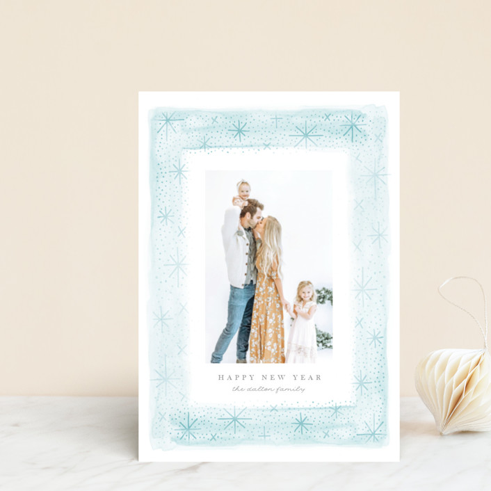"""Snow Frame"" - Bohemian Holiday Petite Cards in Frost by JeAnna Casper."