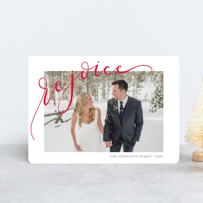 """Rejoicing"" - Holiday Petite Cards in Berry by Erin Niehenke."