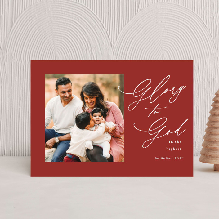 """""""christmas glory"""" - Holiday Petite Cards in Holly by Kasia Labocki."""
