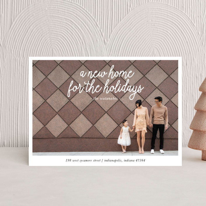 """""""A New Home for the Holidays"""" - Holiday Petite Cards in Midnight by Christine Taylor."""