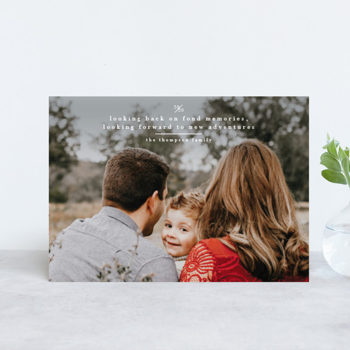 """""""Looking"""" - Holiday Petite Cards in Cloud by Ashlee Townsend."""