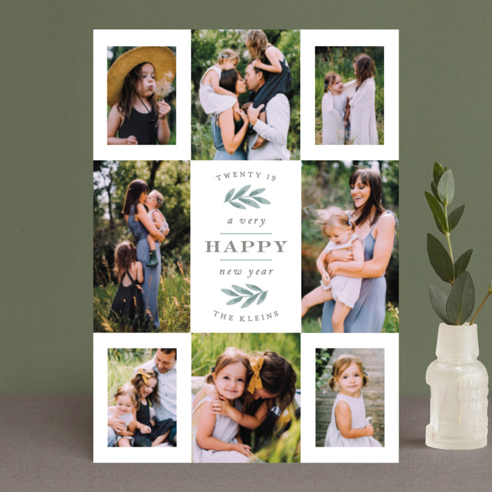 """Eight Great Snaps"" - Holiday Petite Cards in Sage by Hooray Creative."