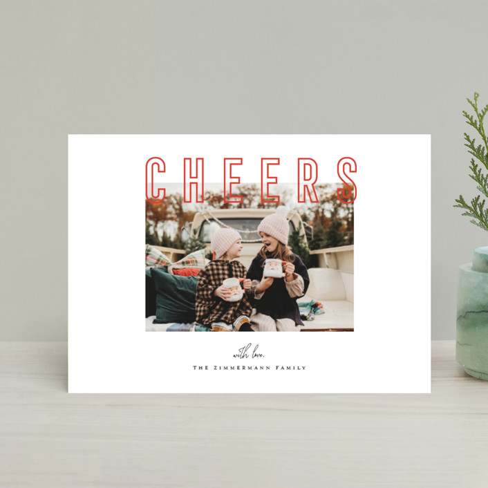 """""""Joyful & Peaceful"""" - Holiday Petite Cards in Candy Cane by Juliana Zimmermann."""