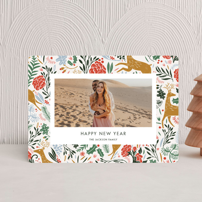 """""""Holiday Forest Photo"""" - Bohemian Holiday Petite Cards in Jour by Made by Mosa."""