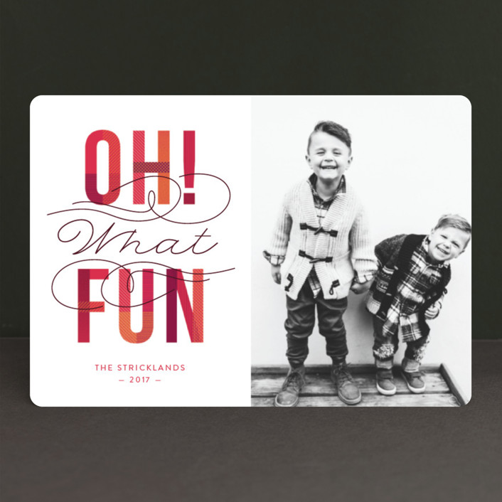 """Oh! What Fun"" - Holiday Petite Cards in Cranberry by Ann Gardner."