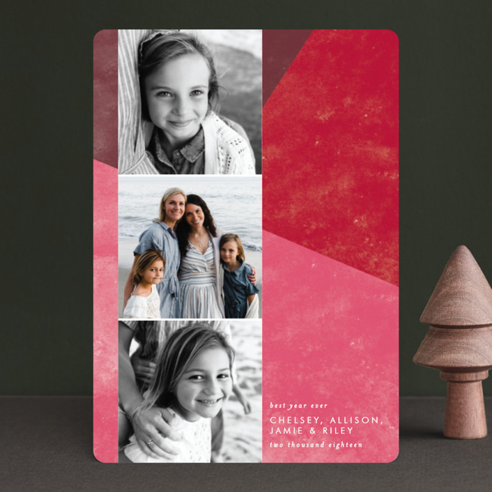 """""""Bold Blocks of Color"""" - Modern Holiday Petite Cards in Persimmon by Ella Weaver."""