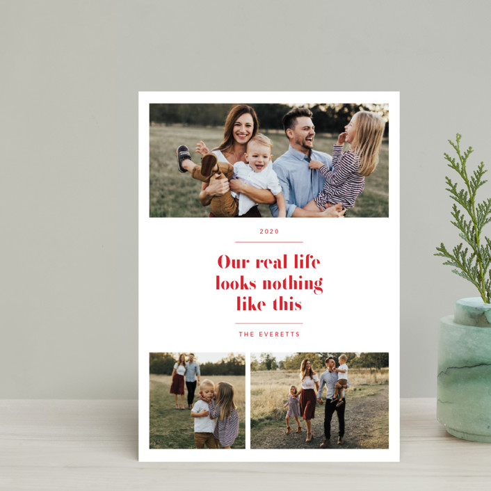 """""""Real Life."""" - Holiday Petite Cards in Ruby by Hudson Meet Rose."""