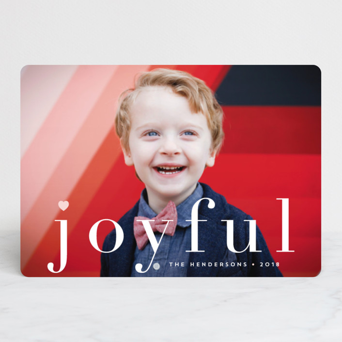 """""""joy from heart"""" - Holiday Petite Cards in Petal by Qing Ji."""