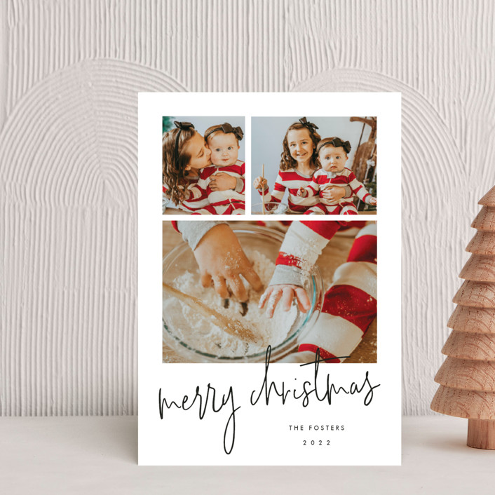 """""""Photo shoot"""" - Holiday Petite Cards in Cotton by Stacey Meacham."""