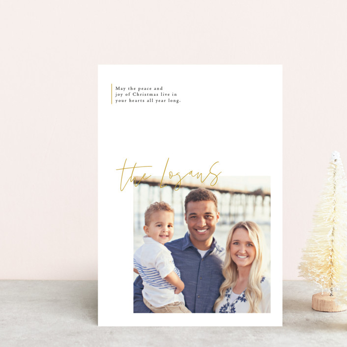 """""""modern sentimental"""" - Holiday Petite Cards in Honey by Design Lotus."""