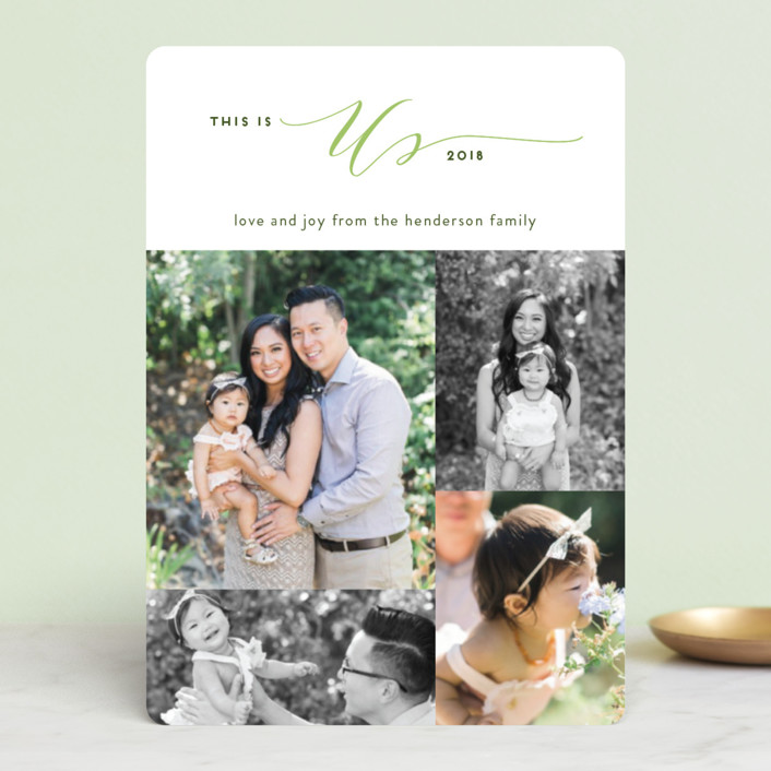 """""""This is Us"""" - Holiday Petite Cards in Evergreen by Simona Camp."""