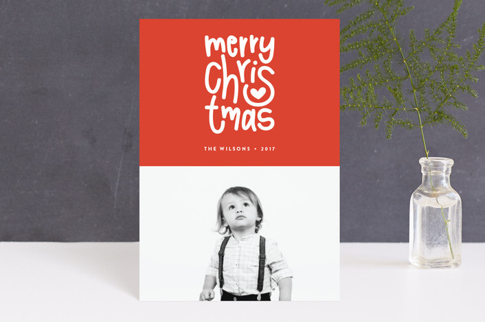 """""""Merry Heart Christmas"""" - Holiday Petite Cards in Merlot by Up Up Creative."""