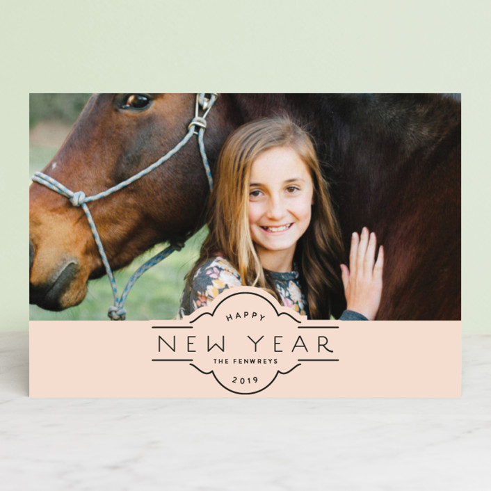 """""""scalloped adornment"""" - Holiday Petite Cards in Blush by Rebecca Durflinger."""