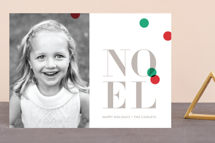 """""""Bright confetti"""" - Holiday Petite Cards in Cranberry by kelli hall."""