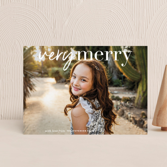 """""""very merry moment"""" - Holiday Petite Cards in Holly by Sara Hicks Malone."""
