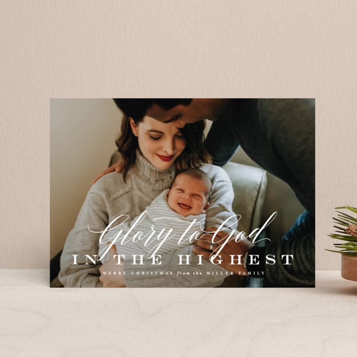 """""""All the Glory"""" - Holiday Petite Cards in Snowflake by Lauren Chism."""