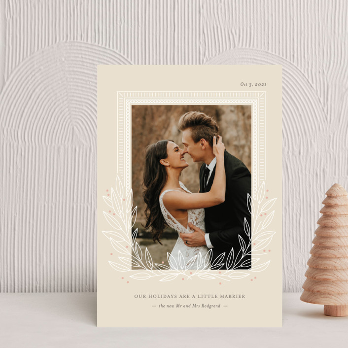 """""""Marrier Holidays"""" - Holiday Petite Cards in Sand by Ann Gardner."""