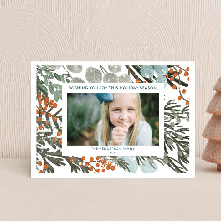 """Vintage Winterberry"" - Holiday Petite Cards in Vintage by Angel Walker."