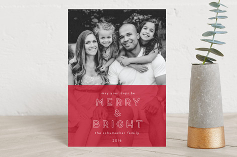 Color Split  Holiday Petite Cards