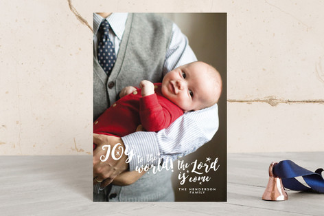 joy to the world the lord is come Holiday Petite Cards