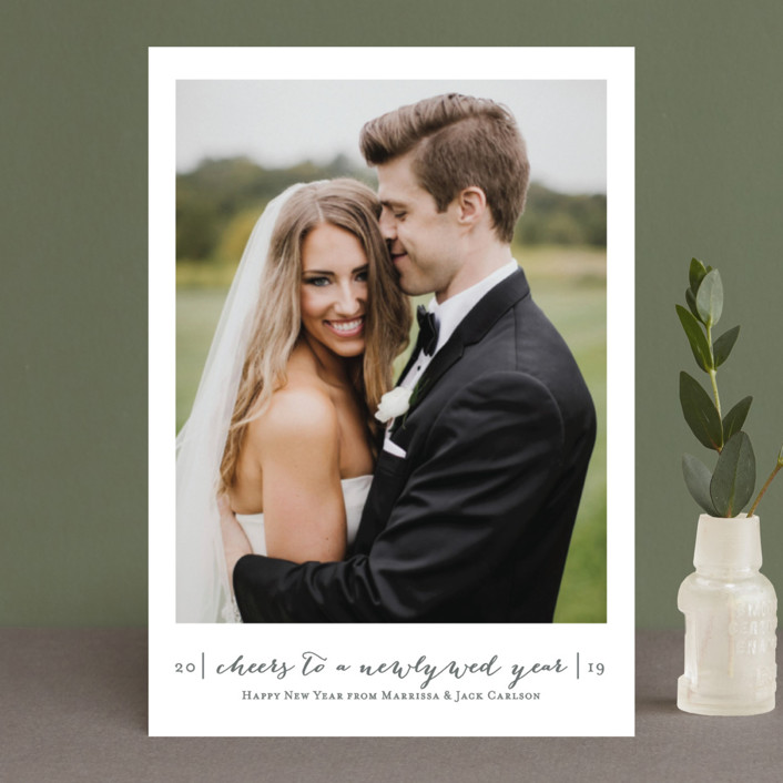 Married Little Christmas Holiday Petite Cards by Liz Conley | Minted
