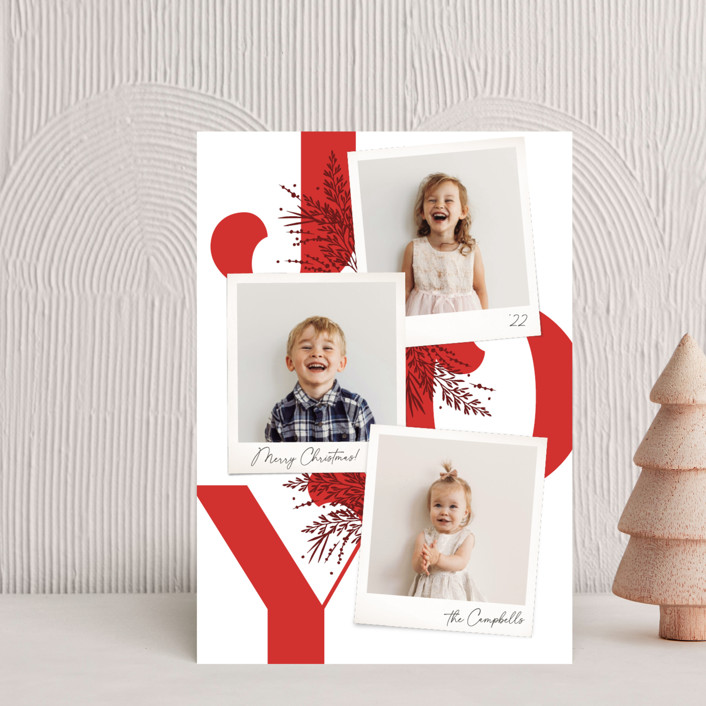 """""""Christmas Snaps"""" - Holiday Petite Cards in Poinsettia by Robert and Stella."""