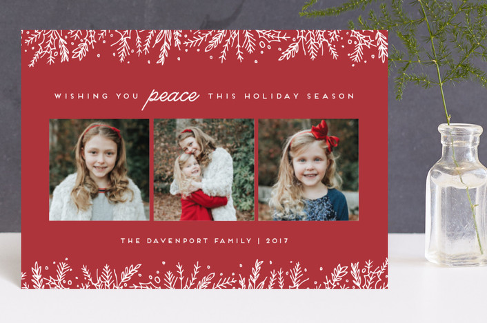 """Introducing with Joy"" - Holiday Petite Cards in Cranberry by Bethan."