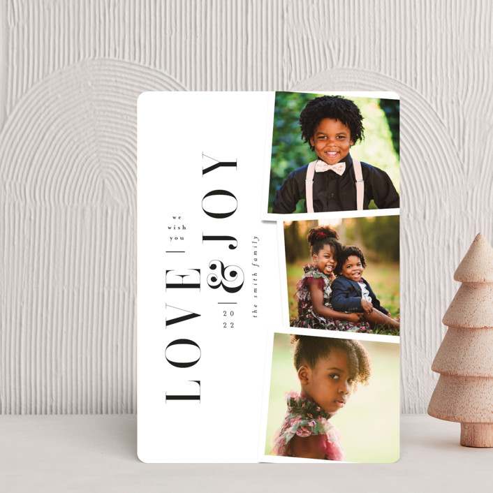 """""""Love&Joy"""" - Holiday Petite Cards in Snow by Ana de Sousa."""