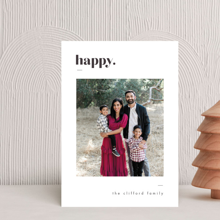 """""""Bold Merry"""" - Holiday Petite Cards in Ash by That Girl Press."""